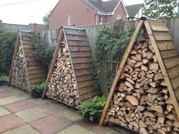 DIY Outdoor Firewood Racks