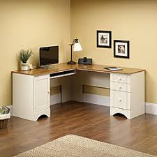 Sauder Harbor View Computer Desk Salt Oak by Computer Desks Office Hutches Sears