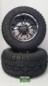100 Black And Chrome Rims For Trucks 12 Maverick SS With 2455012 Blaze Golf Cart