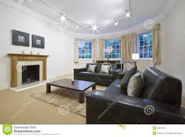 living room with large bay window stock photography image 9091802