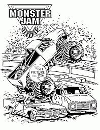 100 Coloring Pages Of Trucks Monster Grave Digger Level Excavator