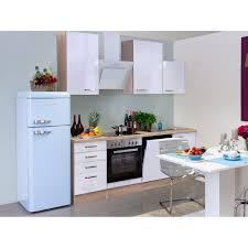 flex well exclusiv küchenzeile valero 220 cm hochglanz weiß sonoma eiche