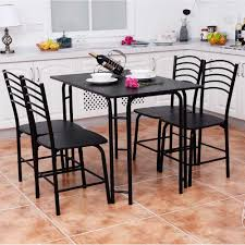 Goplus 5 PCS Black Dining Room Set Modern Wooden Dining Table With 4 Dining  Chairs Steel Frame Home Kitchen Furniture HW54791 Modern Ding Room And Kitchen Interior With White Marble Table Eight Chairs In A Loftstyle Farmhouse Ding Room Diy Shiplap Kitchen Mesas De Small 14 Ways To Make It Work Doubleduty Bob Vila Toaster Vintage Costway 5 Piece Set Glass Metal Table 4 Chairs Breakfast Fniture Poly Bark Vortex Chair Walnut Legs Of Fixer Upper Style Rustic Italian Refresh House Becomes Home Interiors Sobuy Fst59 Hg Office 2pieces Lot European Gold Stool Leg Stainless Steel Round Duhome Elegant Lifestyle Velvet Pink Vanity Accent Upholstered Makeup Plating For