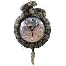 Southwest Decoratives Quilt Shop by Amazon Com Southwestern Rattlesnake Wall Clock With Snake Rattler