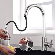 lonheo edelstahl wasserhahn küche ausziehbar mit 2