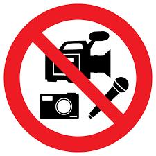 No Media Recording Allowed