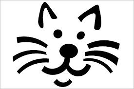 Free Frankenstein Pumpkin Stencil Printables cat face template free download clip art free clip art on