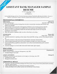 Banking Executive Sample Resume Bank Manager Ideas Of 50