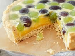 zitronenkuchen mit weintrauben