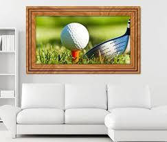 3d wandtattoo golf sport golfball abschlag selbstklebend wandbild sticker wohnzimmer wand aufkleber 11k325