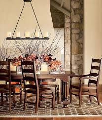 Rustic Dining Room Decorating Ideas by Remarkable Decoration Linear Chandelier Dining Room Marvellous