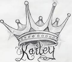 Gallery For Queen Crown Tattoos W Letters