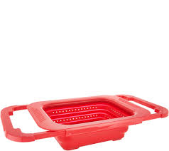 Oxo Over The Sink Colander by Cook U0027s Essentials 3 In 1 Collapsible Colander Page 1 U2014 Qvc Com