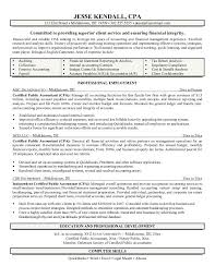 resume for accountant free exle certified accountant resume free sle