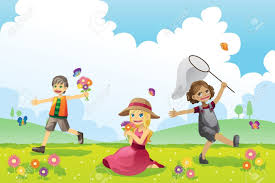 Clipart Of Kids Playing Outside