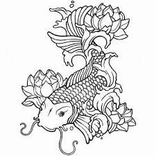 Koi Coloring Pages Carp Fish Art Sheet