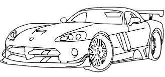 Dodge Race Car Viper Coloring Pages