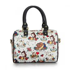 loungefly x beauty u0026 the beast tattoo flash print duffle bag