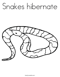 Snakes Hibernate Coloring Page
