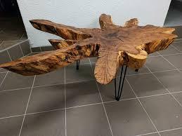 wurzelholz couchtisch wohnzimmertisch kamin tisch deko