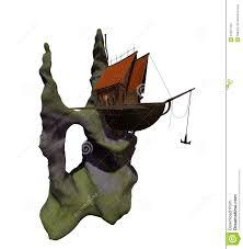 100 Lake Boat House Designs Fantasy Floating Stock Illustration