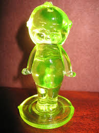 Kewpie Doll Lamp Ebay by Yellow Vaseline Glass Kewpie Cupie Doll Uranium Figurine Boyd