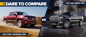 Dare 2 Compare Silverado Vs. Sierra 1500 | Lowe Chevy 2016 Chevy Silverado 53l Vs Gmc Sierra 62l Chevytv Comparison Test 2011 Ford F150 Road Reality Dodge Ram 1500 Review Consumer Reports F350 Truck Challenge Mega 2014 Chevrolet High Country And Denali Ecodiesel Pa Ray Price 2018 All Terrain Hd Animated Concept Youtube Gmc Canyon Vs Slt Trim Packages Mcgrath Buick Cadillac