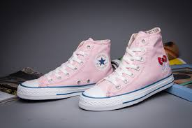 Converse Hellokitty Pink Limited Edition High Tops Cartoon Womens