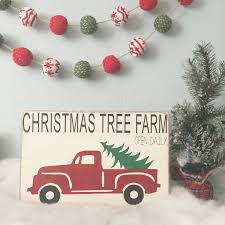 Christmas Tree Shop Return Policy by Christmas Tree Farm Vintage Truck Wood Sign Vintage