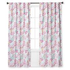 twill light blocking floral print curtain panel apricot ice