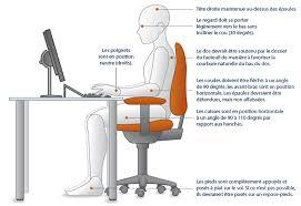 guide d ergonomie travail de bureau la bonne posture assise au travail physio