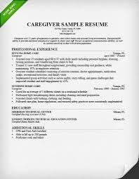 Caregiver Resume Sample Writing Guide