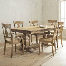 bradding natural stonewash 7 piece dining set with armchairs