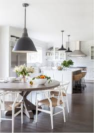 Great Westport Modern Farmhouse And Gems Round Dining Table In Kitchen