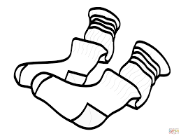 Download Coloring Pages Shoes Clothes And Free Picture