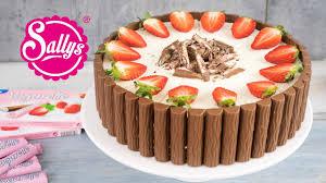 yogurette torte erdbeer joghurt schokoladentorte sallys welt