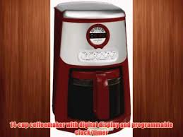 KitchenAid KCM534ER JavaStudio 14 Cup Programmable Coffeemaker Empire Red