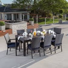 Premium Poly Patios Complaints by Three Posts Evansville 9 Piece Outdoor Dining Set With Cushion