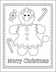 Gingerbread Girl Coloring Page Man Pages Boy Sheets Christmas