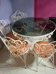 Vintage Wrought Iron Dining Table Set. CLEARING ASAP!!, Furniture ...