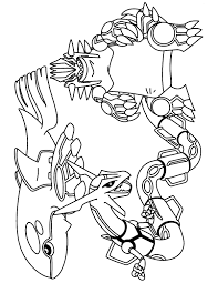 Legendary Pokemon Coloring Pages Rayquaza 5175 Page