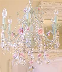 Simple Chandelier Girls Bedroom