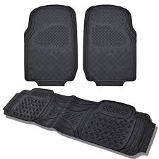 Car Floor Mats by Car Floor Mats For All Weather Heavy Duty Rubber 3 Black