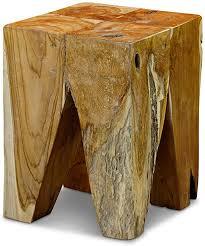 kinaree teak massivholz beistelltisch aru geeignet als podest blumenständer oder nachttisch für wohnzimmer flur diele schlafzimmer oder auch