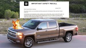 100 Gmc Truck Recall Silverado Owner Gets Notice Promptly Catches Fire