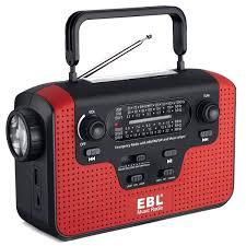 EBL Radio De Emergencia Dynamo Solar Manivela De Mano Radio AmFMSW