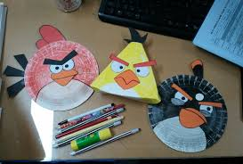 Mango Chutney Crafty Project Paper Plate Angry Birds