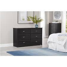 6 Drawer Dresser Black by Ameriwood Furniture Owens 6 Drawer Dresser Black Oak