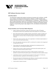 Cover Letter For Business Analyst Provide expertise on the systems