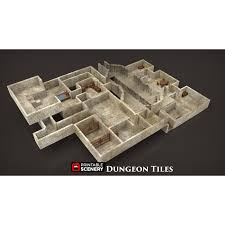 3d Printed Dungeon Tiles by Dungeon Tiles